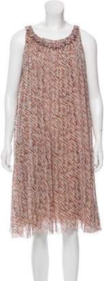 Chanel Pleated Silk Dress