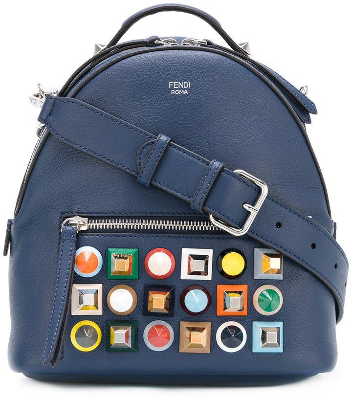 Fendi multicolour stud mini backpack