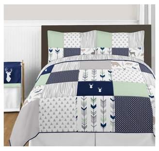 JoJo Designs Sweet Navy & Mint Woodsy Comforter Set (Full/Queen) - Sweet