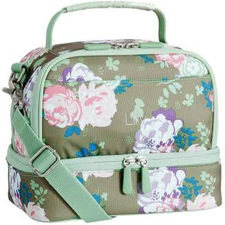 Pottery Barn Teen Gear-Up Olive Garden Party Floral Dual Compartment Lunch Bag