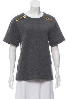 Chloé Button-Accented Virgin Wool Top