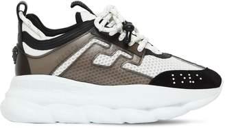 Versace Chain Reaction Logo Mesh Sneakers