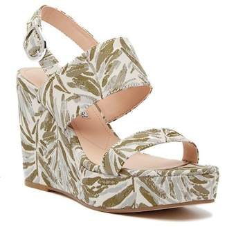 Charles David Jordan Pattern Wedge Platform Sandal