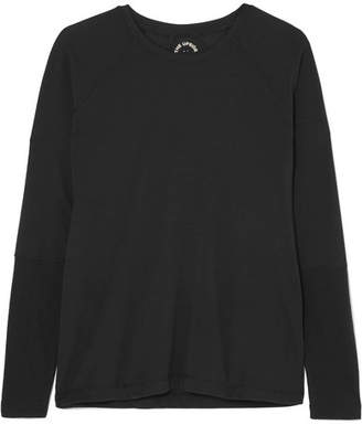 The Upside Dri Release Perforated Stretch-jersey Top - Black