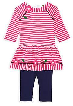 Florence Eiseman Baby Girl's Carnation Dress & Leggings Set