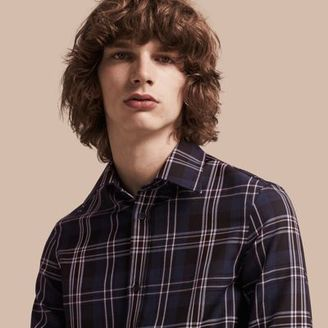 Burberry Check Wool Shirt $550 thestylecure.com