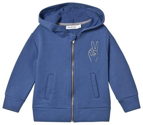 One We Like Dutch Blue Peace Embroidered Hoodie