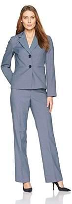 Le Suit LeSuit Women's End 2 Button Notch Lapel Pant Suit