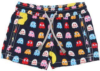 Pac Man Print Nylon Swim Shorts $79 thestylecure.com
