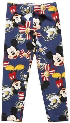 MonnaLisa Mickey Mouse Milano Jersey Leggings