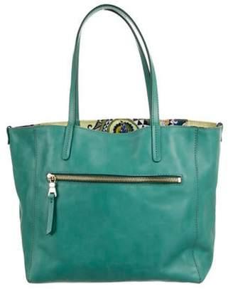 Etro Leather Shoulder Bag Teal Leather Shoulder Bag