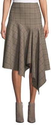 Nanette Lepore First Bet Asymmetric Plaid Skirt