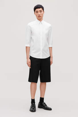 Cos SLEEVED COTTON SHIRT