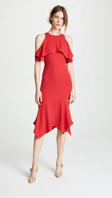 Yigal Azrouel Cold Shoulder Cape Dress