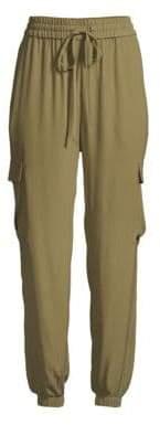 Eileen Fisher Silk Georgette Ankle Cargo Pants