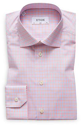 Eton Multi Check Slim Fit Dress Shirt