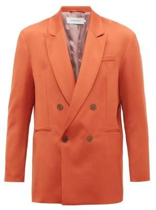 Marques Almeida Marques'almeida - Double Breasted Virgin Wool Blazer - Mens - Orange