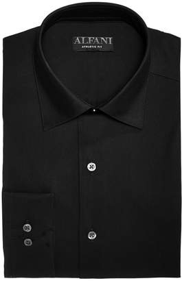 Alfani AlfaTech by Men's Solid Athletic Fit French Cuff Dress Shirt