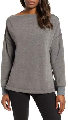 Caslon Off Duty Slash Neck Top