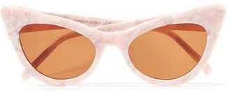 Ganni Lulu Cat-eye Acetate Sunglasses - Baby pink