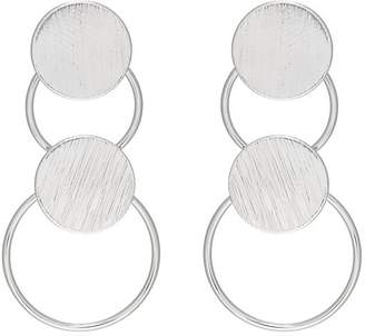 Kenneth Jay Lane WOMEN'S CIRCLE & DISC DOUBLE-DROP EARRINGS