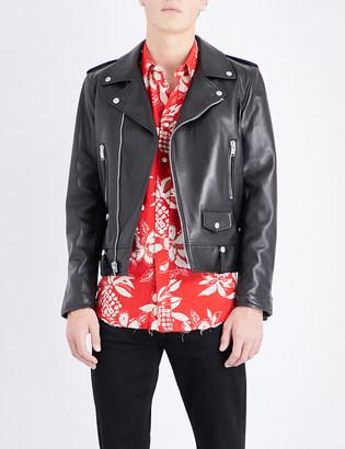 Saint Laurent Leather biker jacket $3,895 thestylecure.com