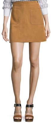 Frame Le High A-Line Skirt, Tobacco