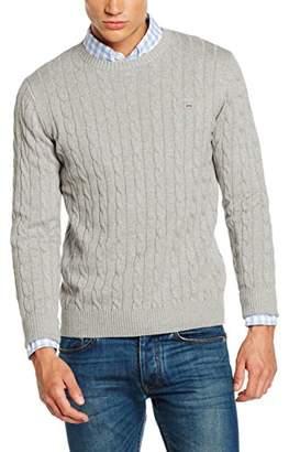 Gant Men's Cable Cotton Crewneck Sweater