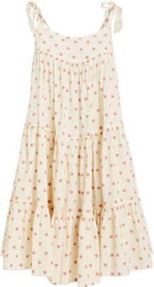 Peri Honorine Polka Dot Tie Strap Dress