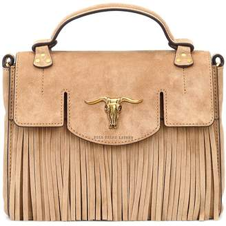 3646ab541a at Italist · Polo Ralph Lauren Schooly Small Suede Satchel Bag