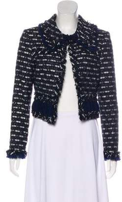 Oscar de la Renta Fringe-Trimmed Tweed Jacket