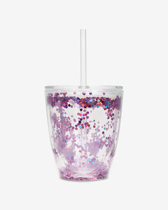 Express Slant Collections Pink Confetti Tumbler