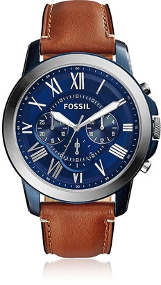 Fossil Grant Chronograph Light Brown Leather Men's Watch