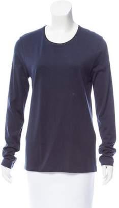 Calvin Klein Collection Silk & Cotton-Blend Scoop Neck Top