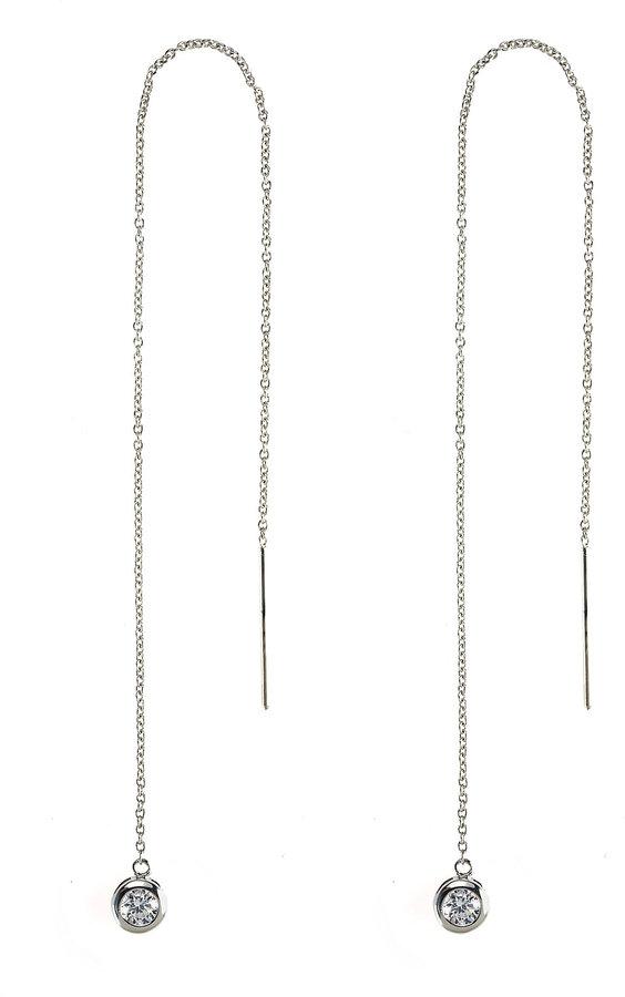 Debra Shepard Cubic Zirconia Thread Earrings