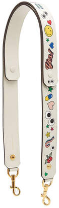 Anya Hindmarch Build A Bag Stickers Leather Shoulder Strap
