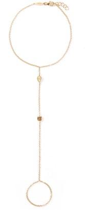Lorde Jewlery Diamond 18k yellow gold ring chain bracelet