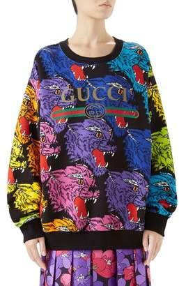 Gucci Multicolor Cat Sweatshirt