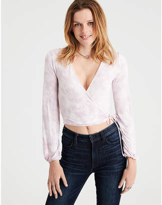 American Eagle AE Soft & Sexy Long Sleeve Cropped T-Shirt