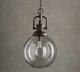 Pottery Barn Duke Oversized Indoor/Outdoor Recycled Glass Pendant