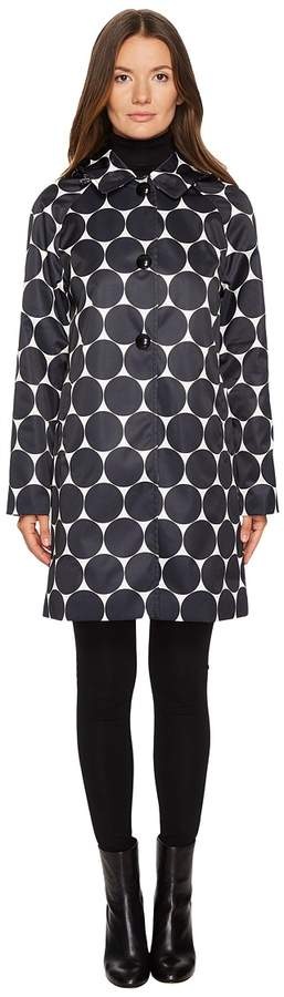 Kate Spade New York - Rain Printed Dot Jacket Women's Coat