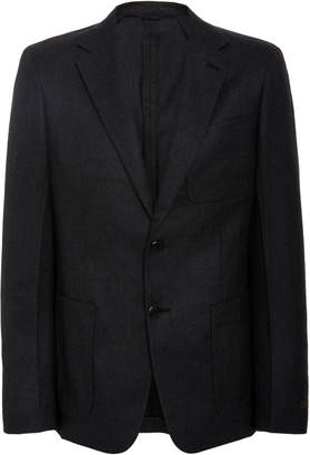 Prada Unstructured Wool-Flannel Blazer