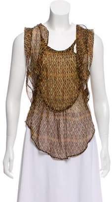 Etoile Isabel Marant Sleeveless Silk Blouse