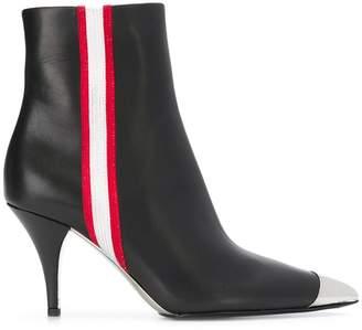 Calvin Klein side stripe ankle boots