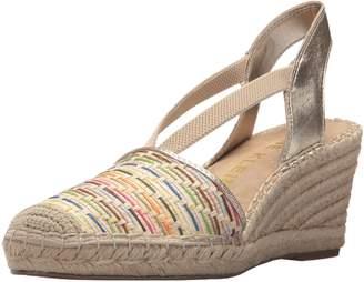 Anne Klein Women's Abbey Natural Espadrille Wedge Sandal