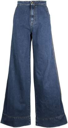 Loewe High Rise Flared Jeans