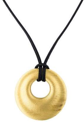 Paul Morelli 18K Fluted Disc Pendant Necklace