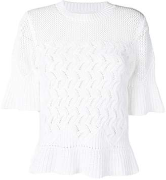 See by Chloe embroidered T-shirt