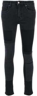 Victoria Beckham Victoria patchwork slim-fit jeans