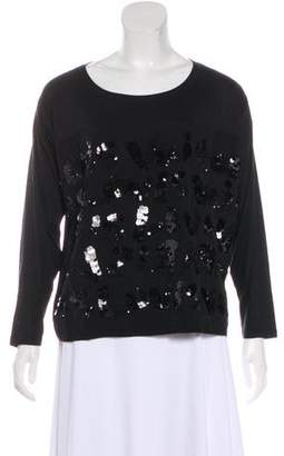 Louis Vuitton Sequined Long Sleeve Top